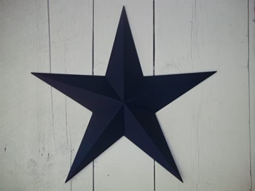 Heavy Duty Metal Star 10 Painted Navy Blue