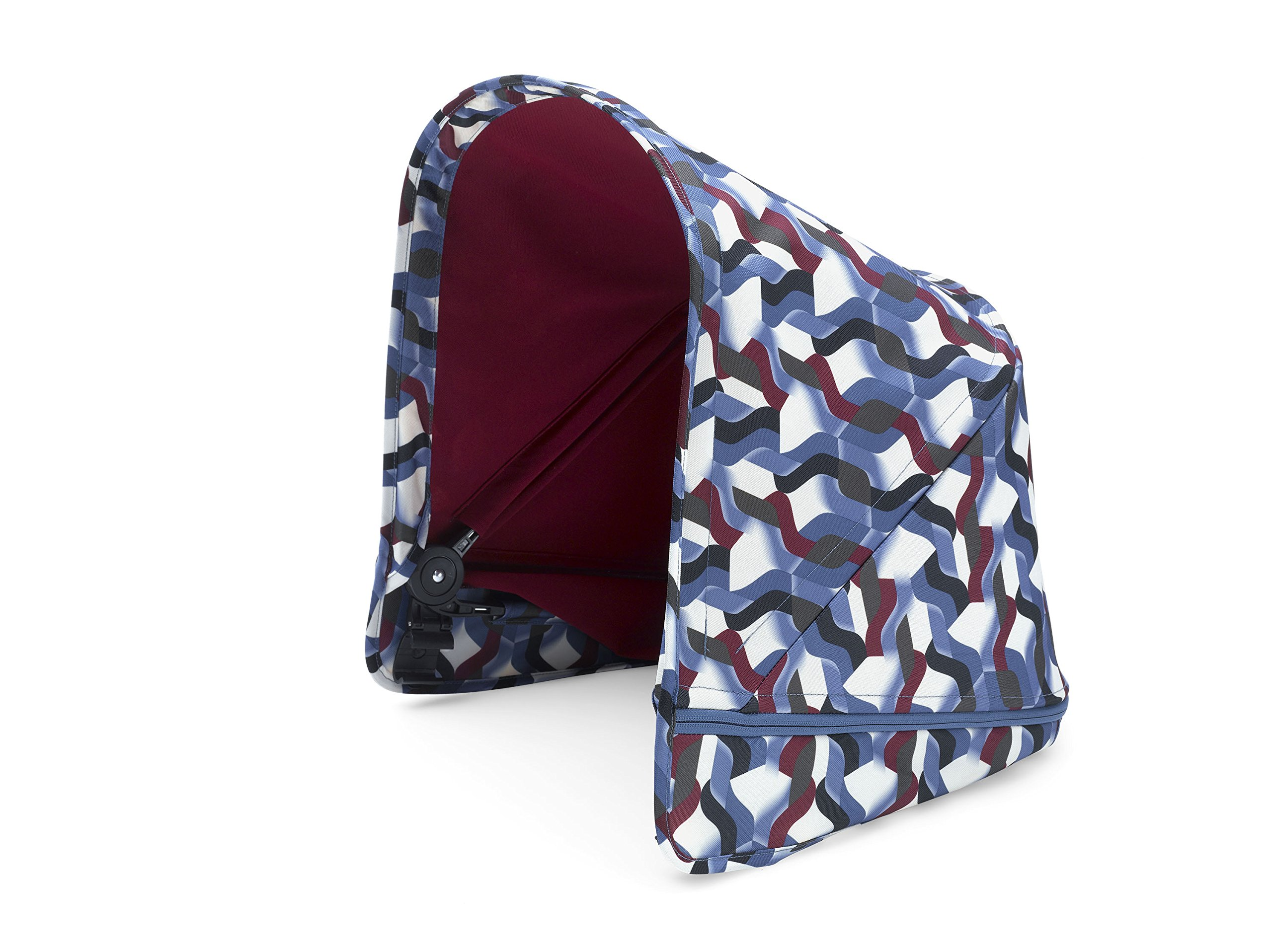 Bugaboo Donkey2 Sun Canopy, Waves - Extendable Sun Shade for Full Weather Protection, Machine Washable