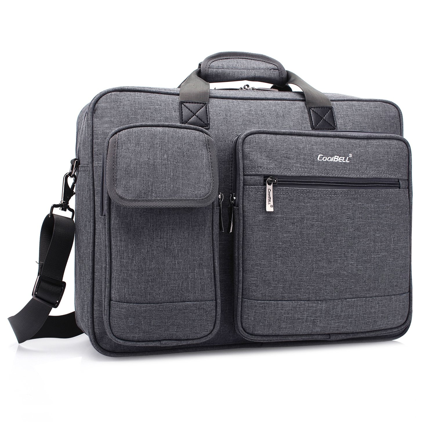 Brinch 17.3 Inch Unisex Fabric Laptop Sleeve Messenger Shoulder Bag