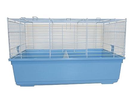 YML sa3220 Interior pequeño Animal Jaula Conejo, Azul: Amazon.es ...