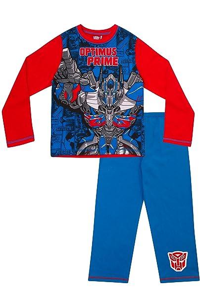 ThePyjamaFactory Optimus Prime Pijama para niño Azul azul 6-7 Años