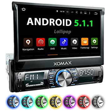"XOMAX XM-VRSUA739 Radio de Coche con Android 5.1 I GPS I Bluetooth 7"""