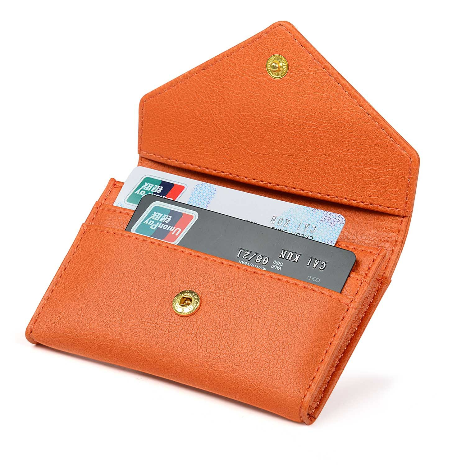 Women's Card Case Wallet Credit Card Holder Name Card Case Front Pocket Wallet for Ladies by XEYOU