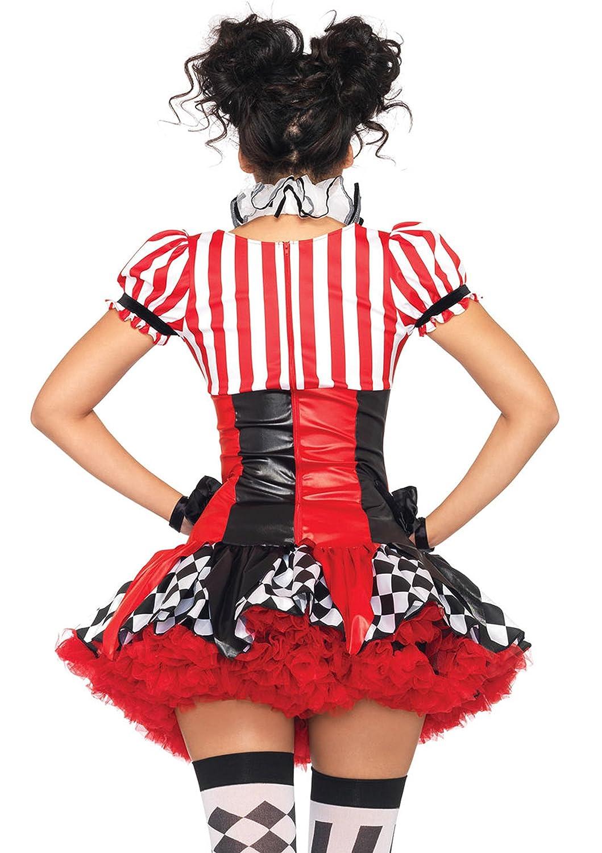 Leg Avenue 83929 - Harlequin Clown Damen Damen Damen Kostüm, Größe S (Schwarz Rot) eaf992