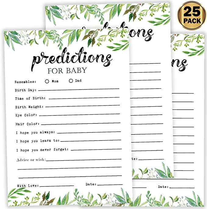 Greenery Please Leave Your Advice and Wishes Cards Green Foliage Advice Cards Sign Bridal Shower Decorations  789