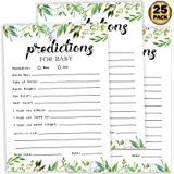 25 Greenery Advice and Prediction Cards for Baby Shower Game, New Mom and Dad Card or Mommy and Daddy To Be for Girl or…