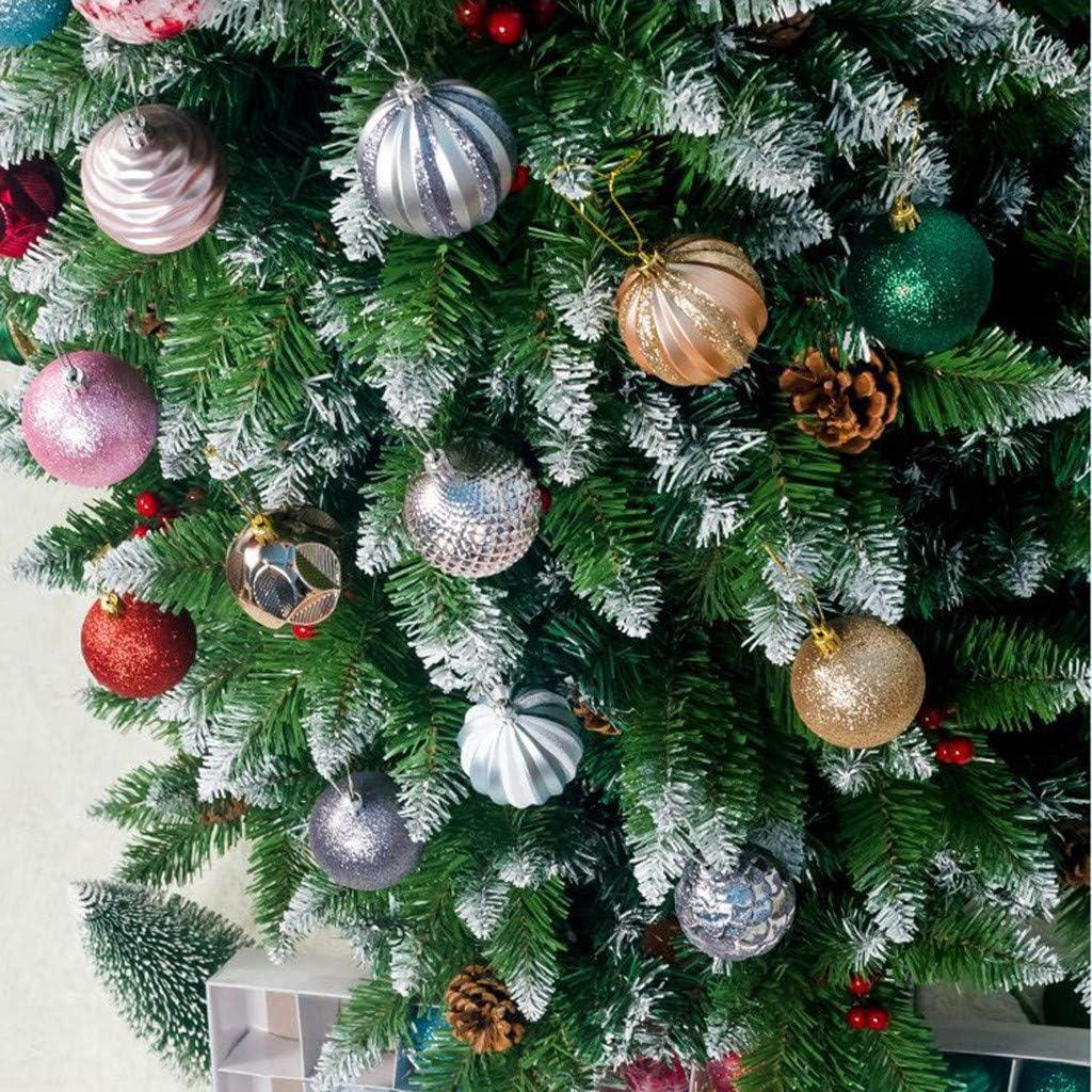 recepci/ón decoraci/ón navide/ña Bolas de Cristal Navidad Sixcup 12 Bolas de Navidad de 8 cm decoraci/ón para /árbol de Navidad Regalo Fiestas