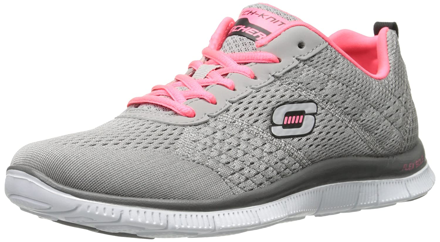 Skechers Flex Appeal - Obvious Choice, Zapatos para Mujer 36 EU|Gris (Lgcl)
