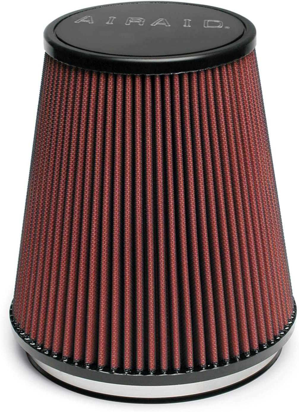 184 mm Top Flange ID; 7 in Base; 5 in Height; 7.25 in 152 mm 178 mm 127 mm AIRAID 700-462 Universal Clamp-On Air Filter: Round Tapered; 6 in