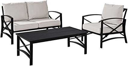 Amazon Com Crosley Furniture Ko60014bz Ol Kaplan 3 Piece Outdoor