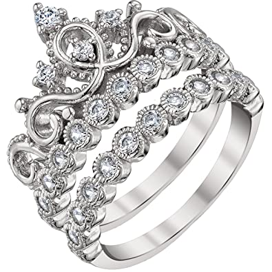 Twist Ring White Black CZ New .925 Sterling Silver Cluster Band Sizes 5-10
