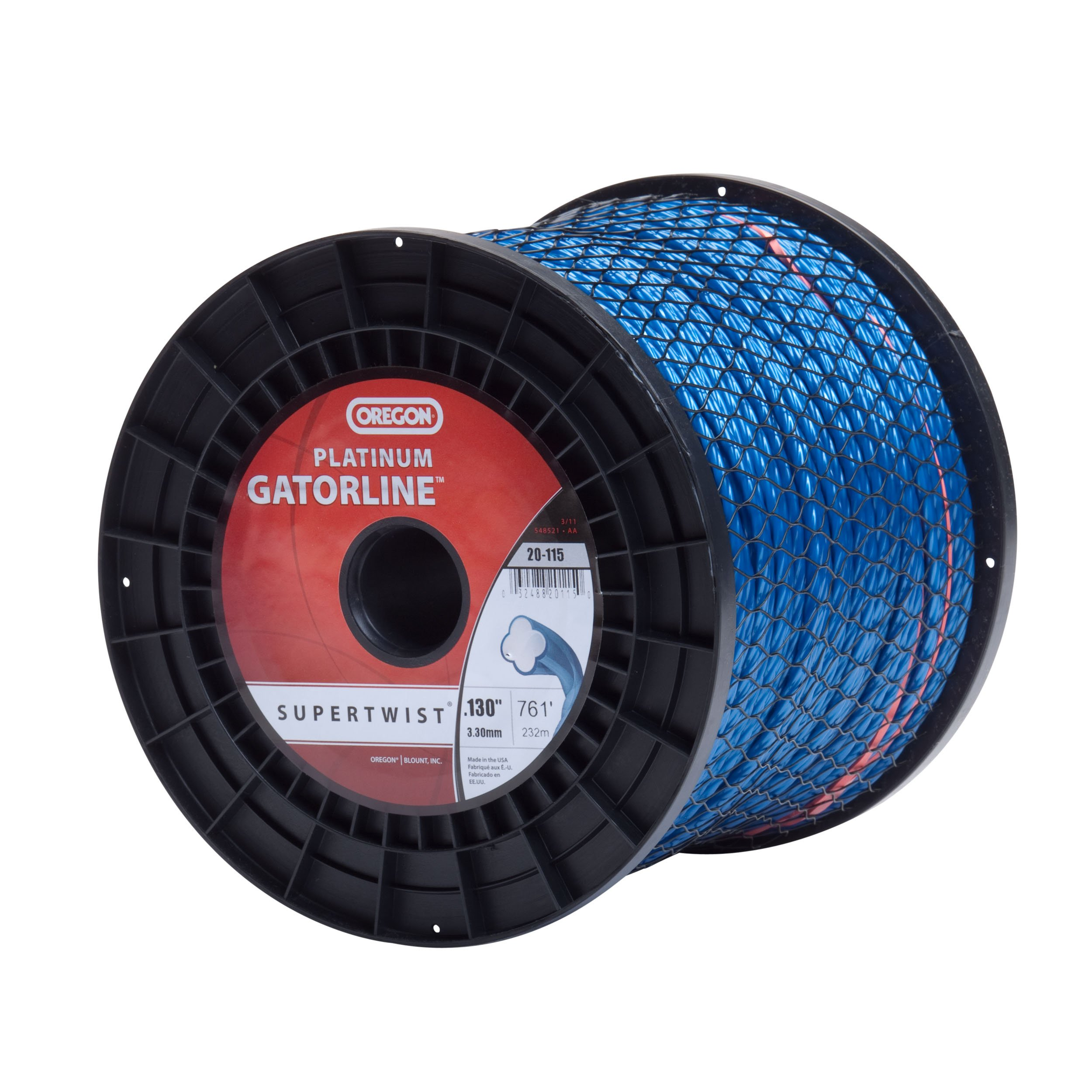 Oregon 20-115 Platinum Gatorline 5-Pound Spool String Trimmer Line 0.130-Inch Gauge by Oregon