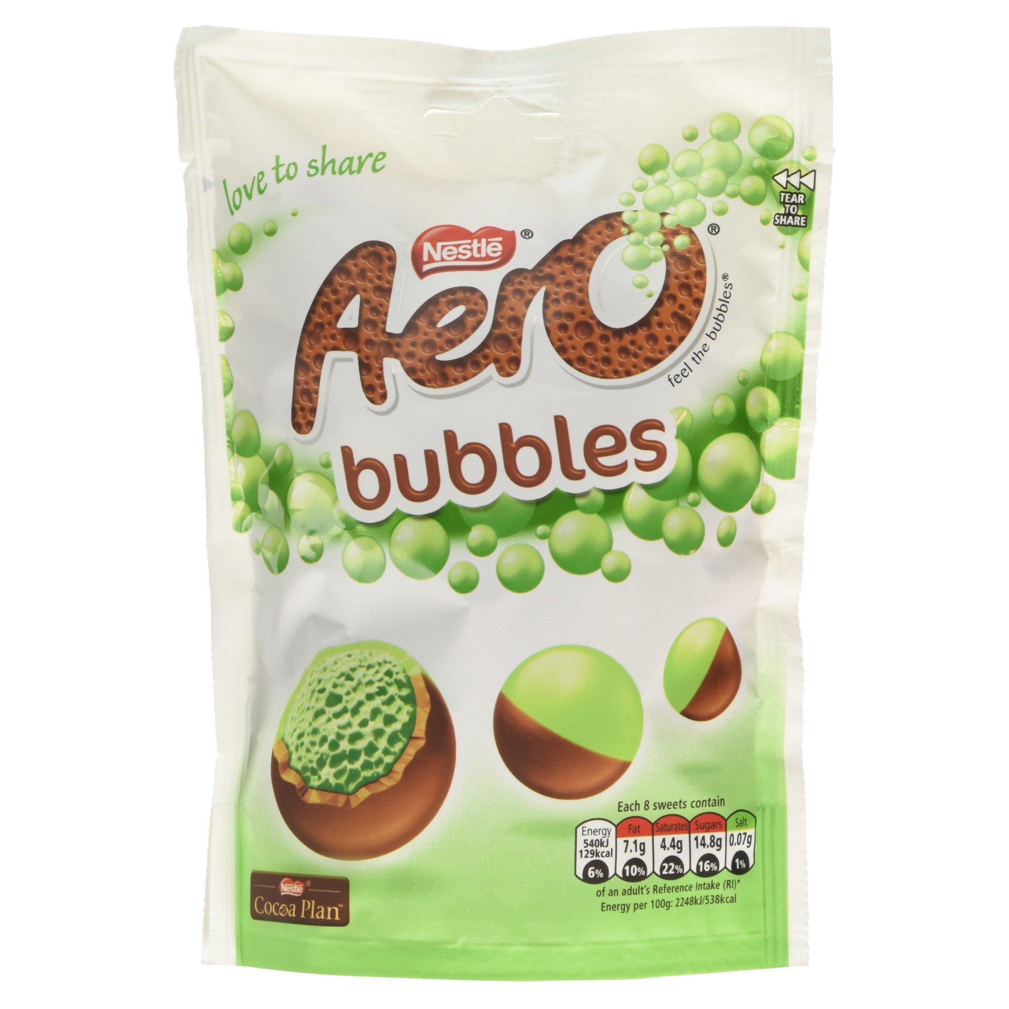 amazon com aero milk chocolate bubbles bag 113g grocery