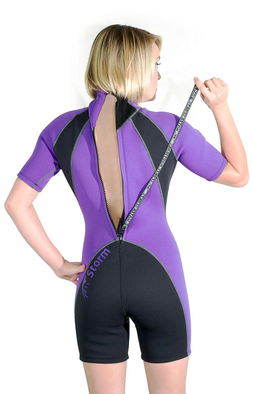 Storm Womens 2mm Purple Shorty Snorkel/Scuba/Water Sports Wetsuit