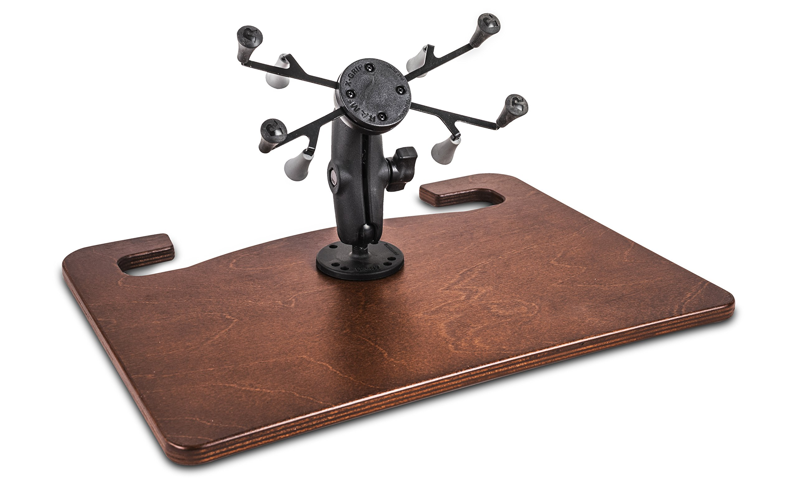 AutoExec AUE72003 Wheelmate Extreme with 7'' X-Grip Tablet Mount in Mahogany Finish