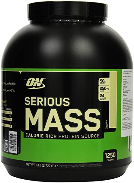 Optimum Nutrition Serious Mass Ganador, Vainilla - 2721 g