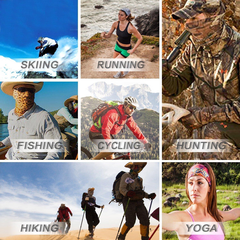 Hiking Fishing NEXTOUR Neck Gaiter Headwear Headband Magic Scarf Seamless Bandana Runing Motorcycle 12 in 1 Multi Function Women Men