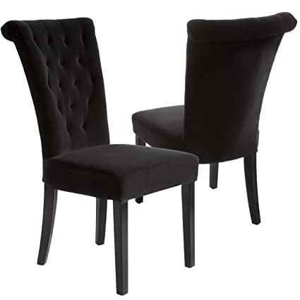 Amazoncom Best Selling Viceroy Velvet Dining Chair Black Set Of