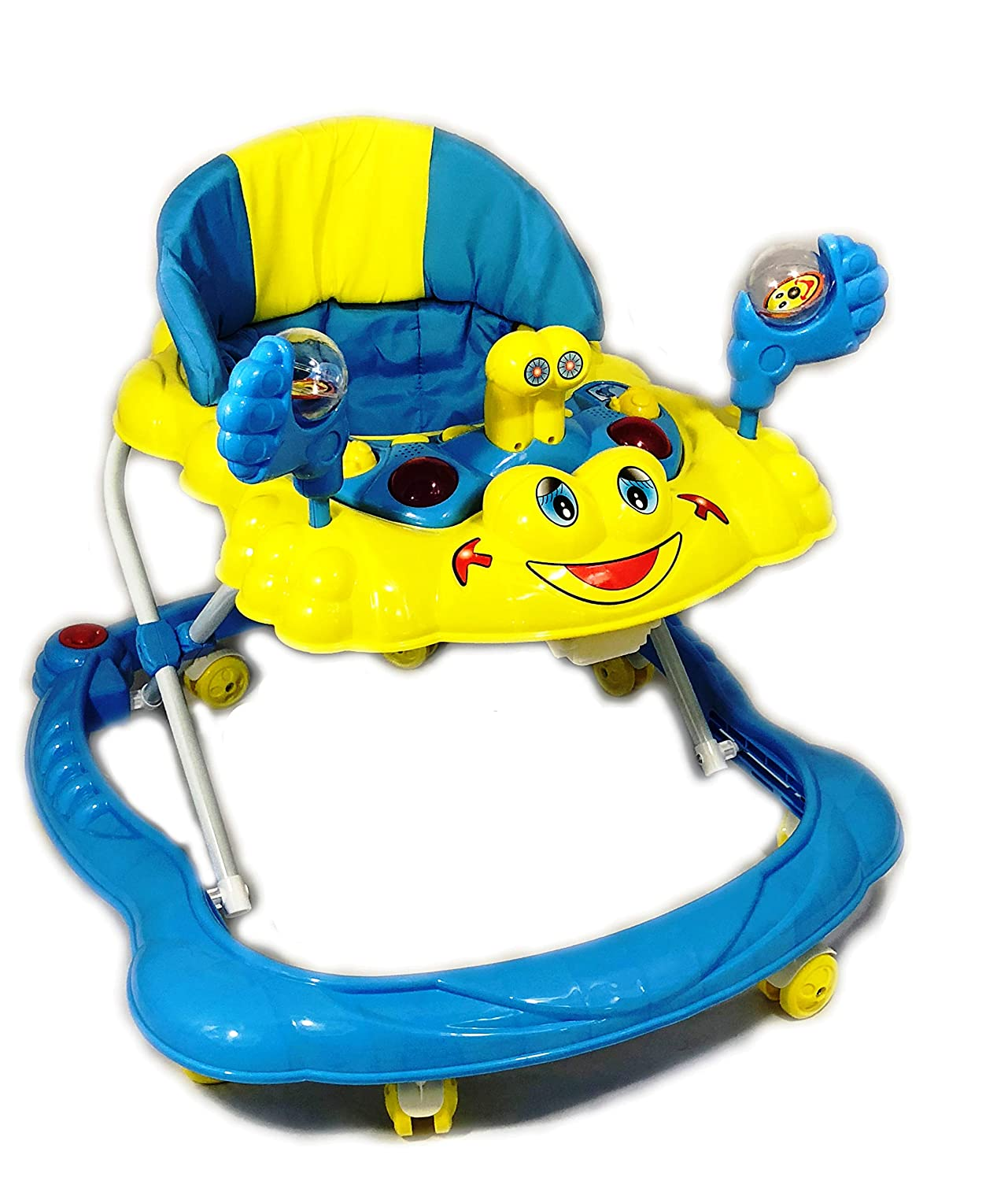 New Baby Walker First Step Push Along Bouncer Activity Music Ride On Car Melody