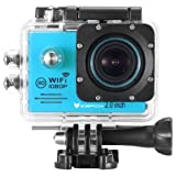 icefox® WIFI Action Camera, FHD Underwater Digital Camera with 12MP 1080P HD 2.0 Inch LCD and Free Accessories Kit for Diving, Swimming, Running, Climbing and Hunting(Blue)