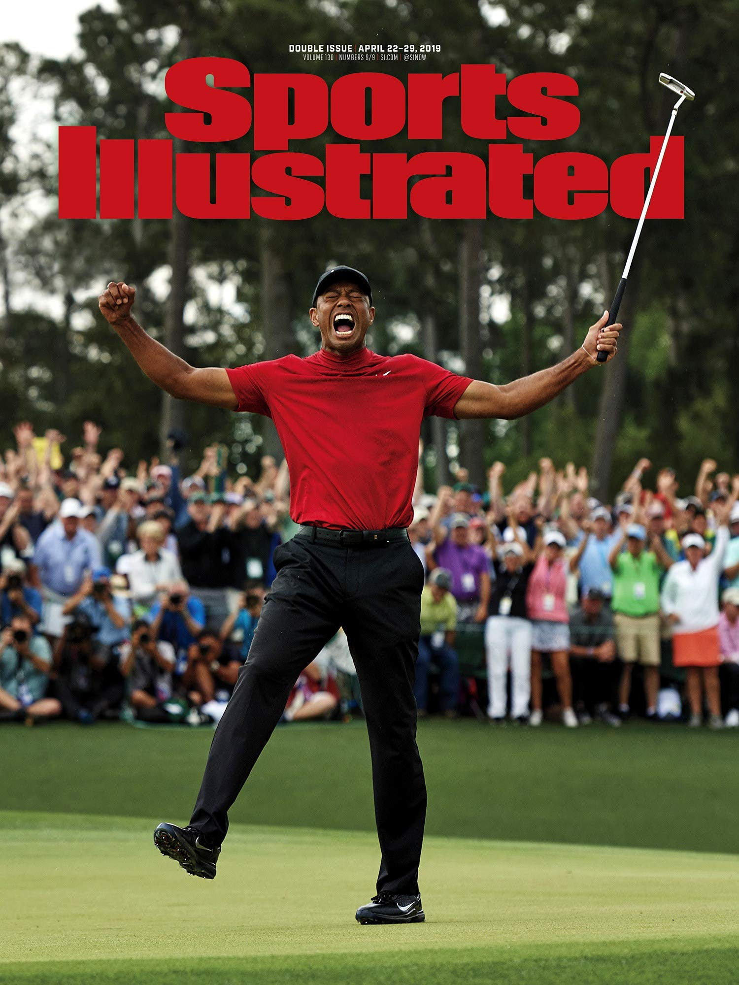 PosterWarehouse2017 Tiger Woods WINS 2019 Masters Sports Illustrated Cover Commemorative Poster by PosterWarehouse2017