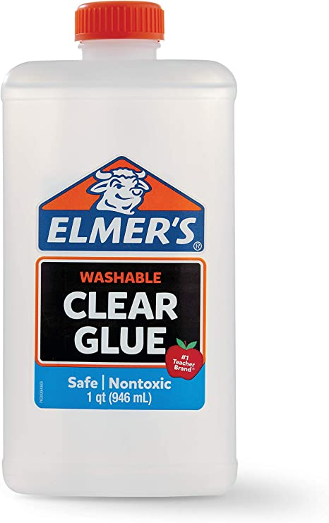 ELMERS 2024691 Elmer's Liquid School Glue, Clear, Washable, 32 Ounces - Great for Making Slime