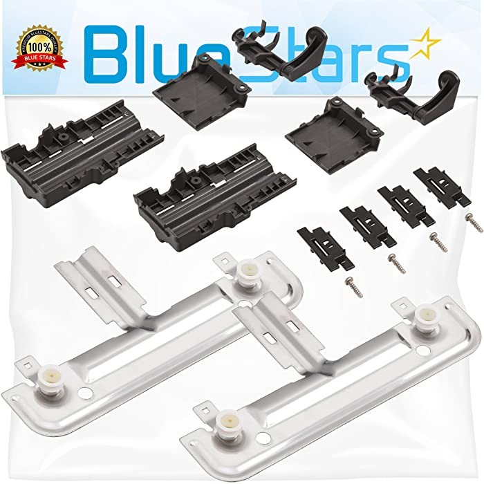 Ultra Durable W10712394 Dishwasher Rack Adjuster Kit Replacement Part by Blue Stars – Exact Fit For Whirlpool & Kenmore Dishwashers – Replaces W10238418 W10253546