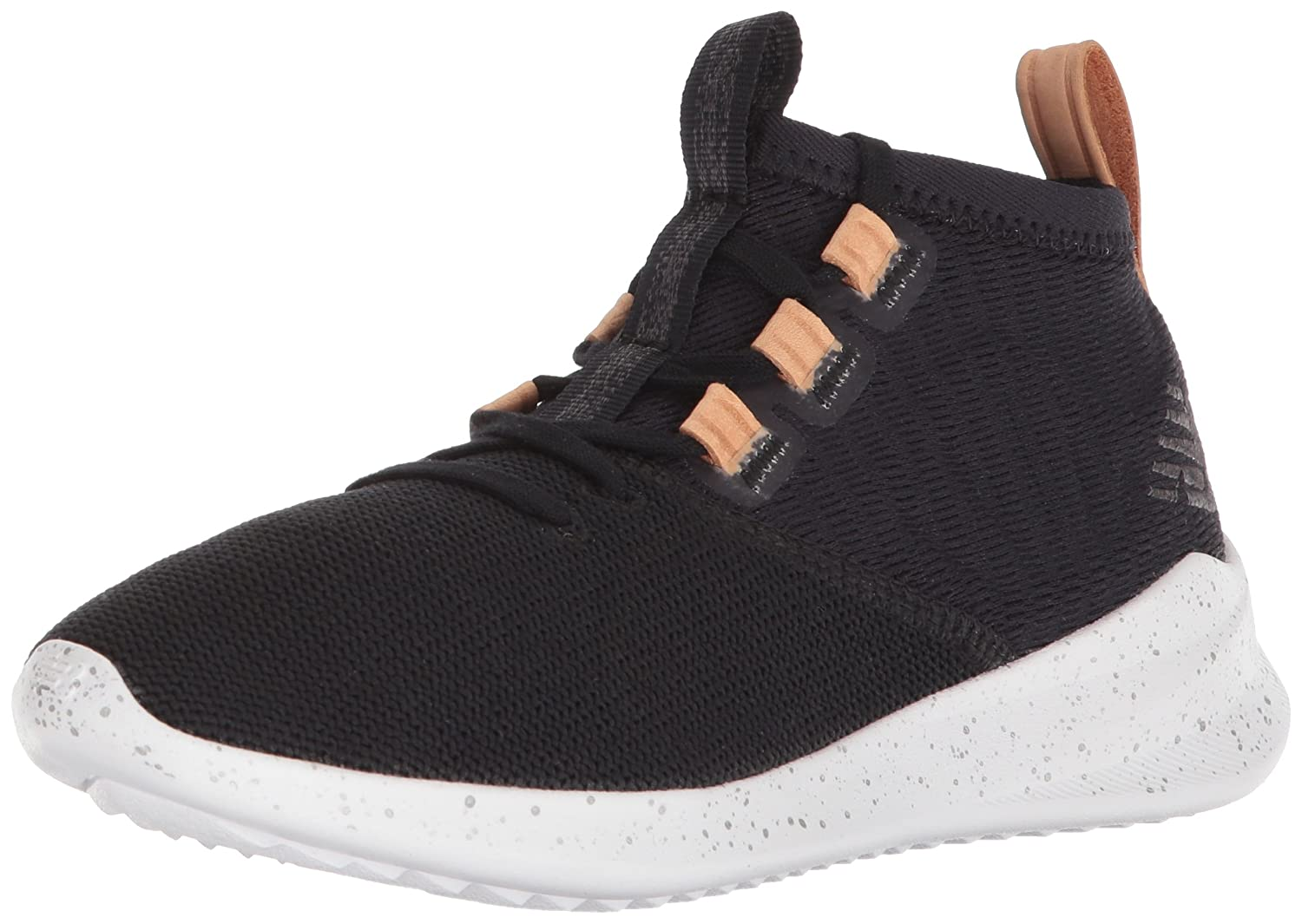 New Balance Women's Cypher V1 Running Shoe B0751Q8THM 5.5 B(M) US|Black/Veg Tan Leather