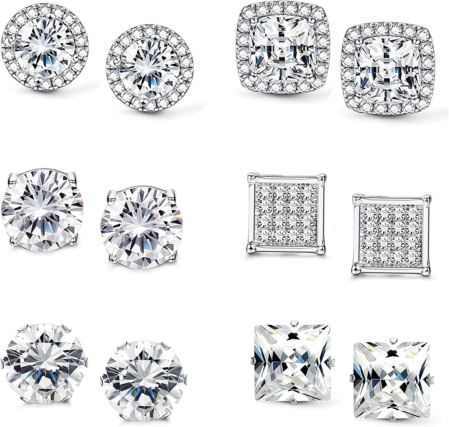 Jstyle Halo Cubic Zirconia...