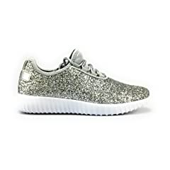 f96c0714db6f Forever Link Remy-18 Fashion Light Weight Glitter Lace up Low Top Sneaker  (11