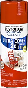 Rust-Oleum 269457 American Accents Ultra Cover, 12 oz, Gloss Apple Red