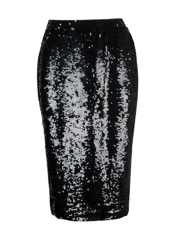P.A.R.O.S.H. Women's D620564013 Black Polyamide Skirt