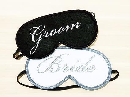 Novio y Novia dormir máscaras, antifaz para dormir, regalo de bodas para parejas,