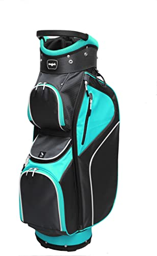 Majek Ladies Teal Black Golf Bag 9 inch 14-Way Friendly Separator Top