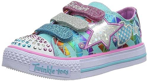 skechers Shuffles-Classy Sassy, Zapatillas para Niñas, Azul (AQMT), 35 EU: Amazon.es: Zapatos y complementos