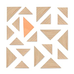 Kit Triangle Bamboo Magnets, Pack of 20, Fridge Magnets, Office Magnets, Dry Erase Board Magnets, Refrigerator Magnets