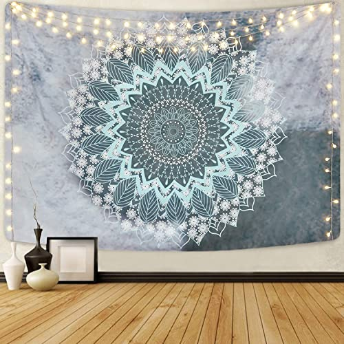 Mandala Tapestry Hippie Bohemian Tapestries Flower Psychedelic Tapestry Wall Hanging Indian Dorm Decor Living Room Bedroom