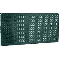 """Wall Control 30-HP-1632 GN 16"""" x 32"""" Horizontal Green Metal Pegboard Tool Board Panel"""