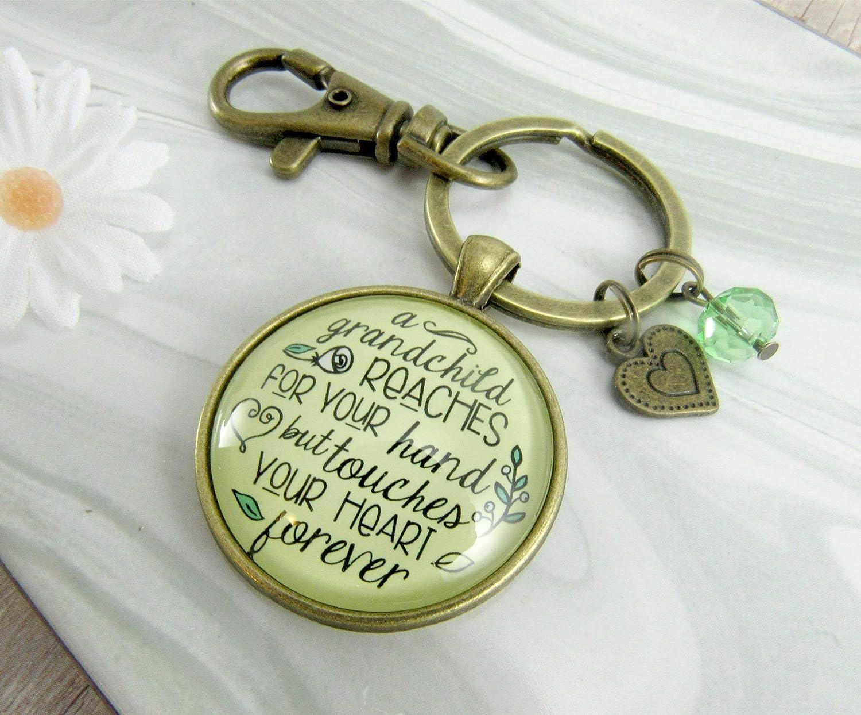 Grandma Keychain A Grandchild Reaches Grandma Life Quote Jewelry Gift