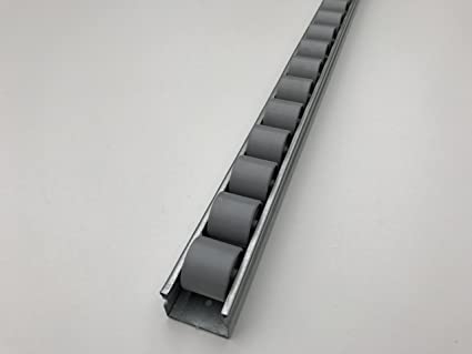 roller track flow rail roller gravity conveyor with plastic wheels