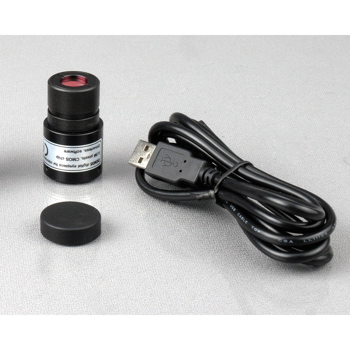 AmScope M158C-E 40X-1000X Biology Science Metal Glass Student Microscope with USB Digital Camera