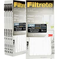Filtrete 10x20x1 MPR 300 Pleated AC Furnace Air Filter 6-Pack, Basic Dust Clean Living (307DC)