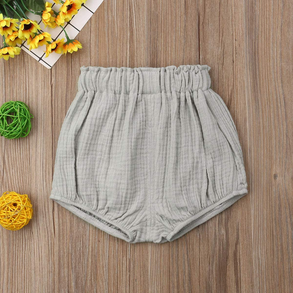 Shorts for Newborn Baby Cotton Bermuda Underwear Cotton Linen Blend for Children Girls Leggings Flared Shorts Baby Girls Bloomers