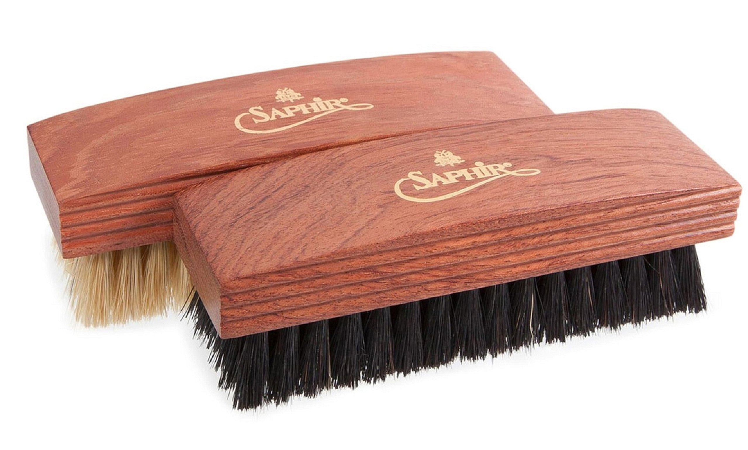 Saphir Men's Mdo Buffing And Polishing Brushes One Size Black & Natural Set