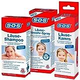 SOS Läusealarm-Set mit Läuseshampoo, Läusekamm und Läuse-Abwehr-Spray | Läuseset | Läusemittel | Läusebehandlungsset