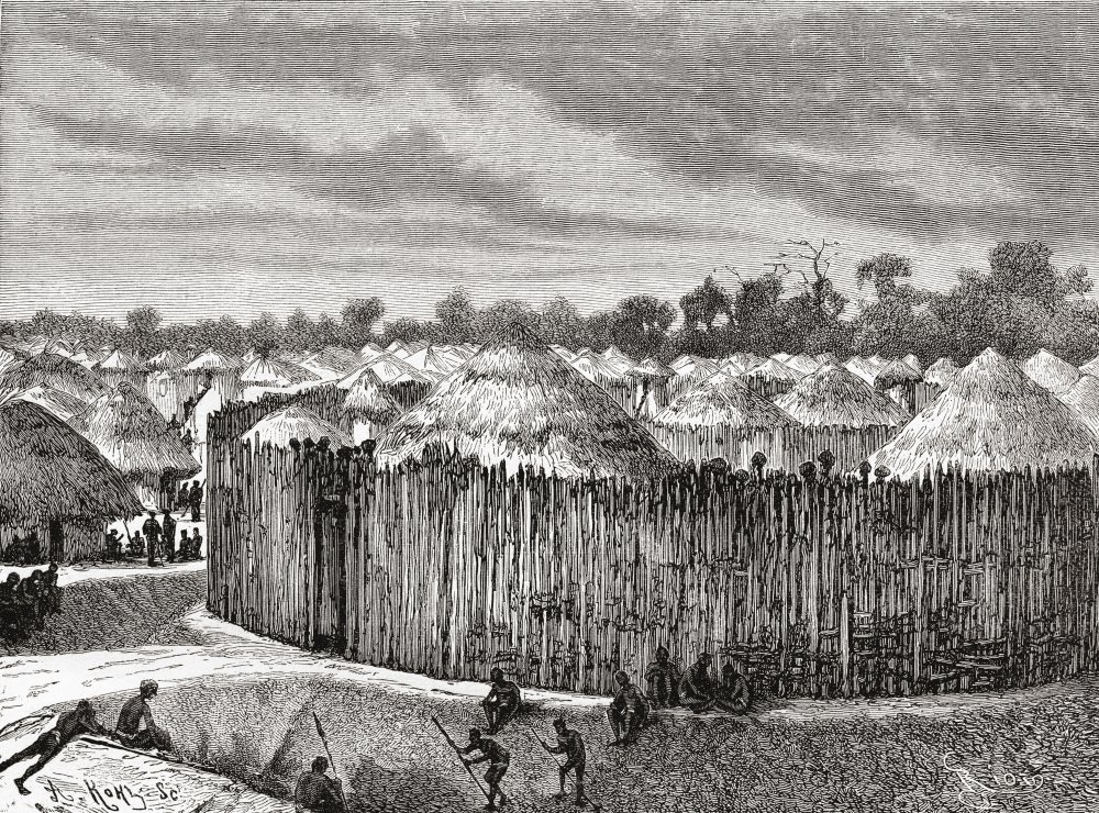 Amazon.com: A Village In Central Africa During The 19Th Century From ...