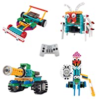 Robotic Kit for Kids - Ingenious Machines Remote Control Building Kits for Kids - TG633 Awesome Fun Build Your Own Robot Toy by ThinkGizmos (All Batteries Included)