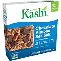 Kashi Chewy Chocolate Almond Sea Salt Granola Bars - Vegan, Box of 6