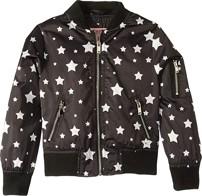 0796b78f6 Urban Republic Kids Womens Luna Sateen Star Print Bomber Jacket (Little  Kids/Big Kids)