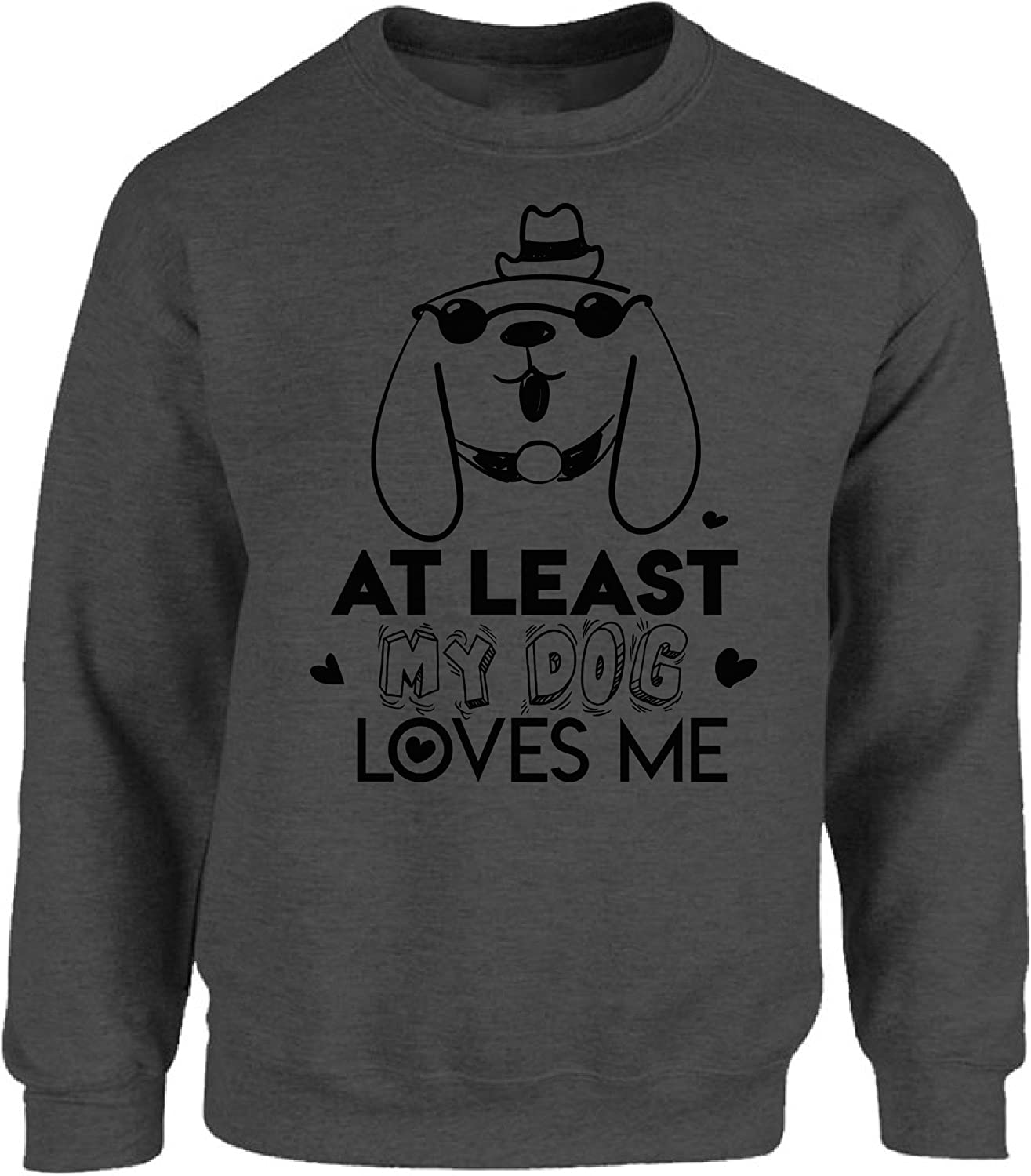 Men/'s At Least My Dog Loves Me Shirts Dog Valentine Shirt Gifts for Dog Lovers
